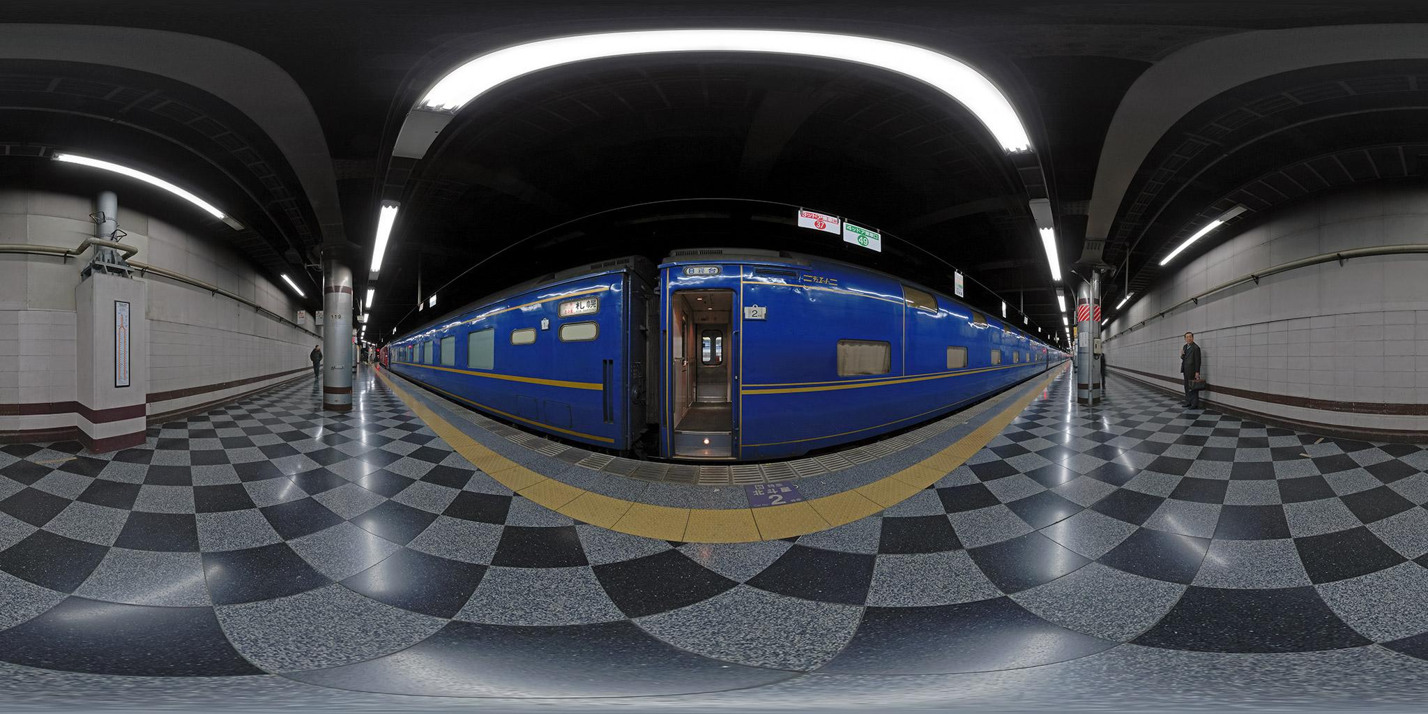 上野駅13番線を16:50に発車していた「北斗星1号」