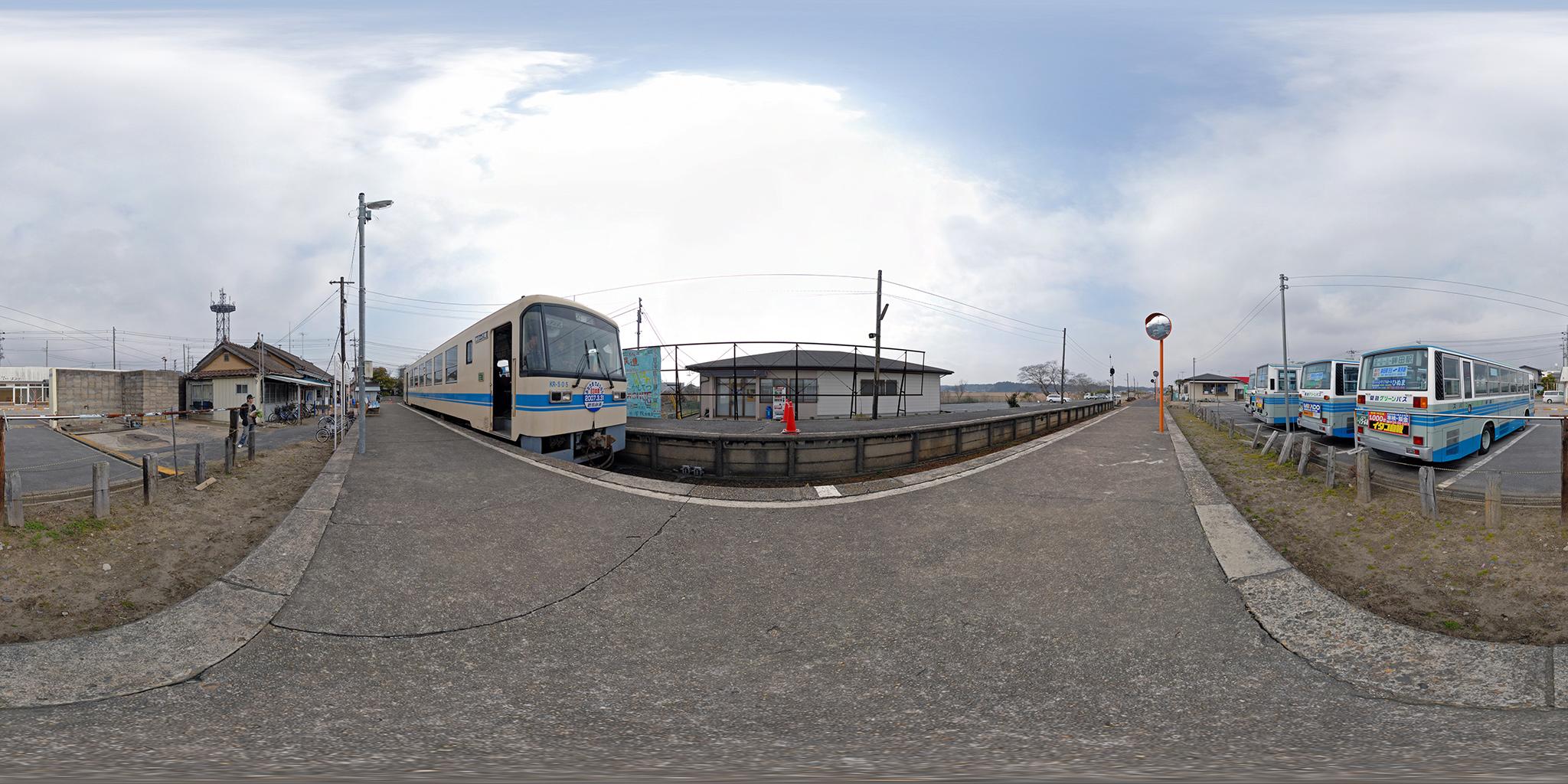 鹿島鉄道 鉾田駅構内