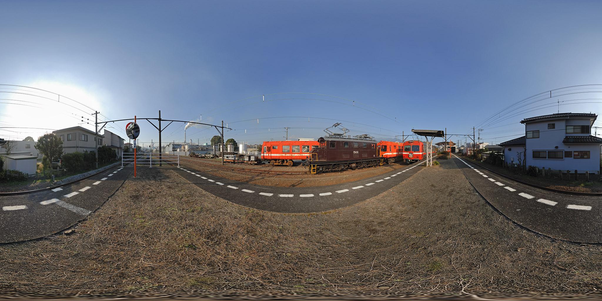 岳南鉄道岳南富士岡駅にてED501と5000系