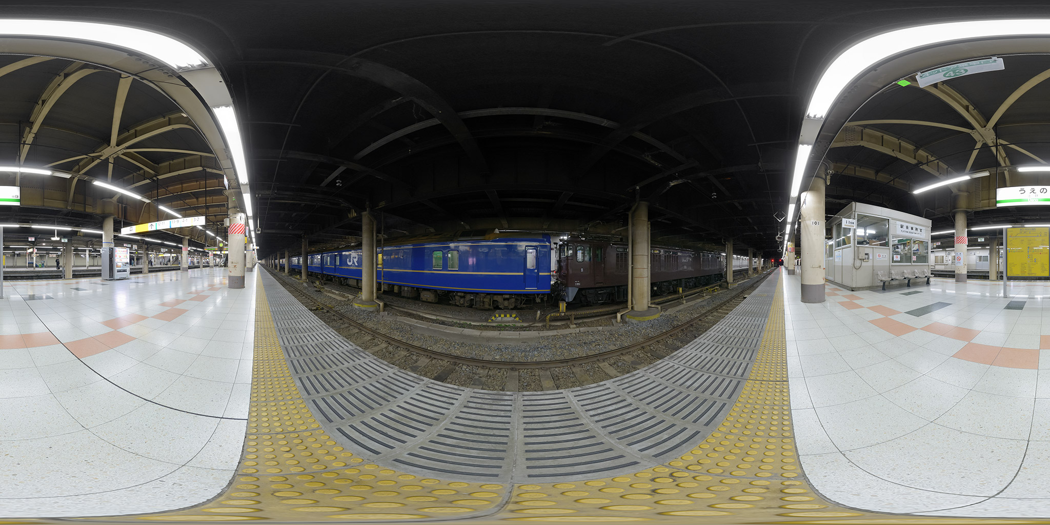 上野駅に入線する寝台特急「あけぼの」