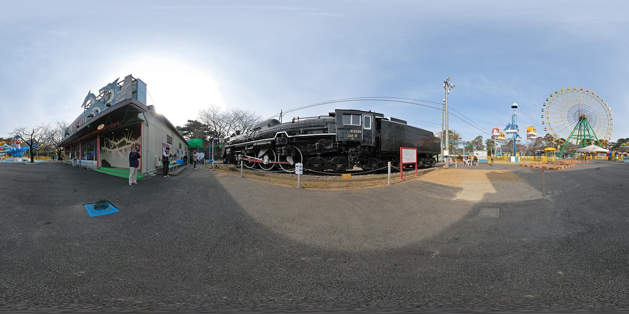 華蔵寺公園遊園地に保存されていたC6120