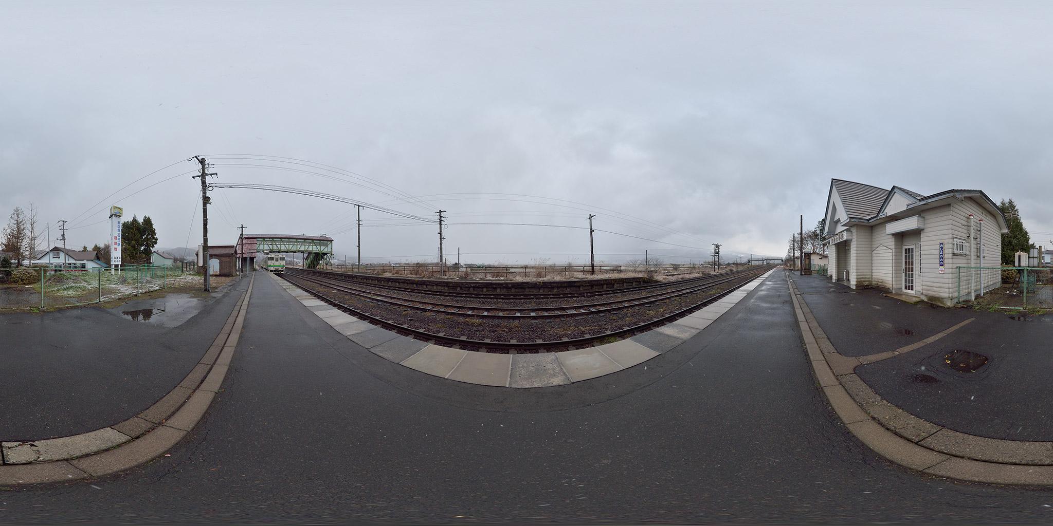 2010年11月に撮影した渡島大野駅