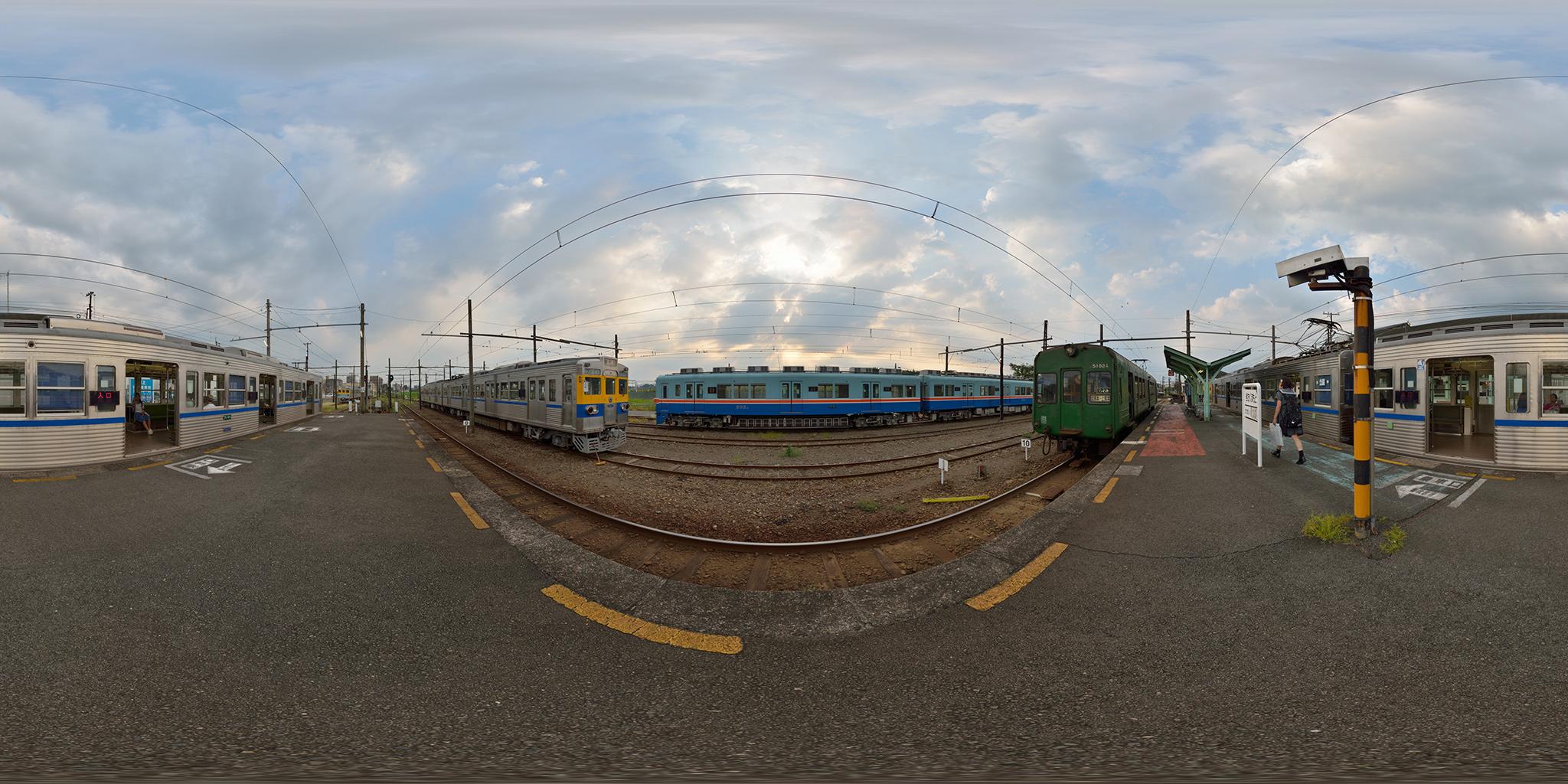 北熊本駅構内の5000系・6000系・200系