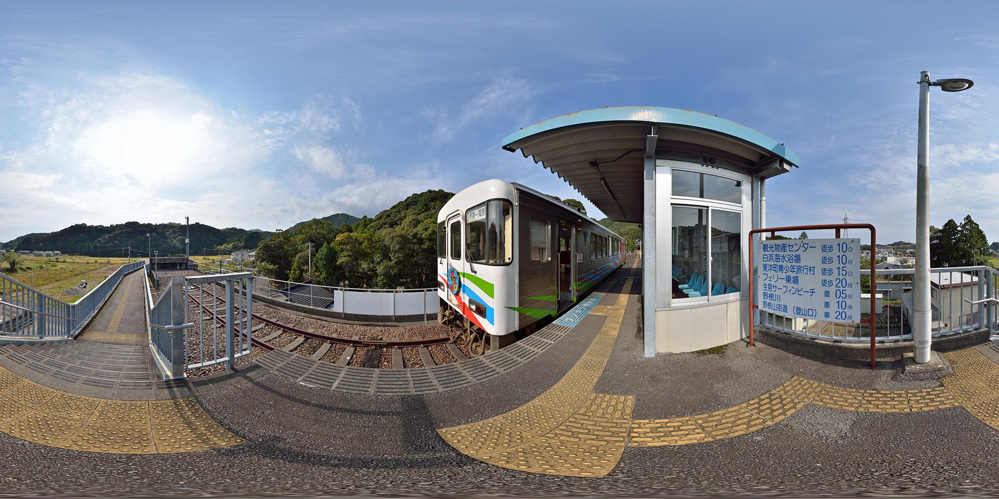 甲浦駅にてASA-100形