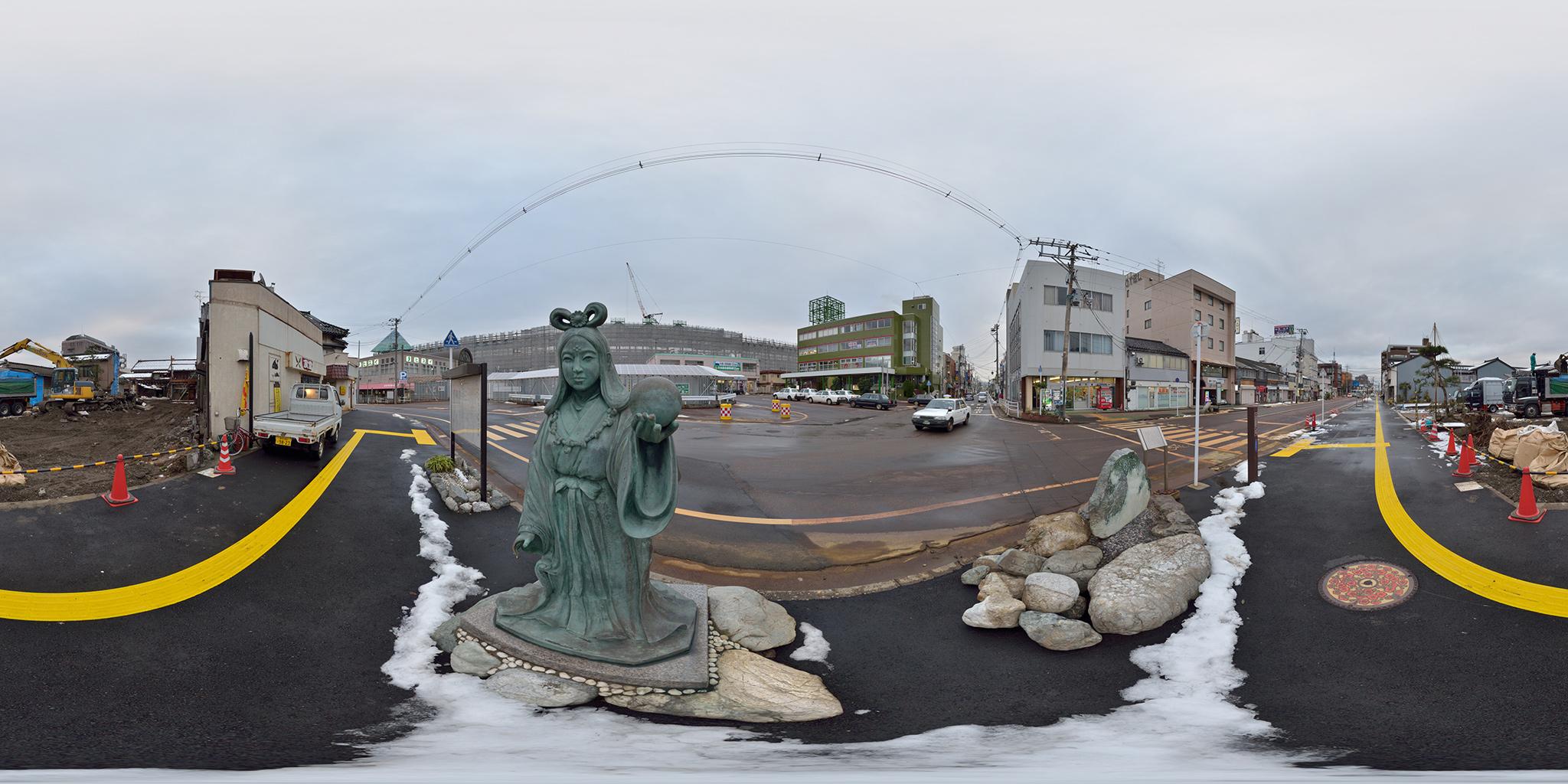 2013年1月の糸魚川駅前風景