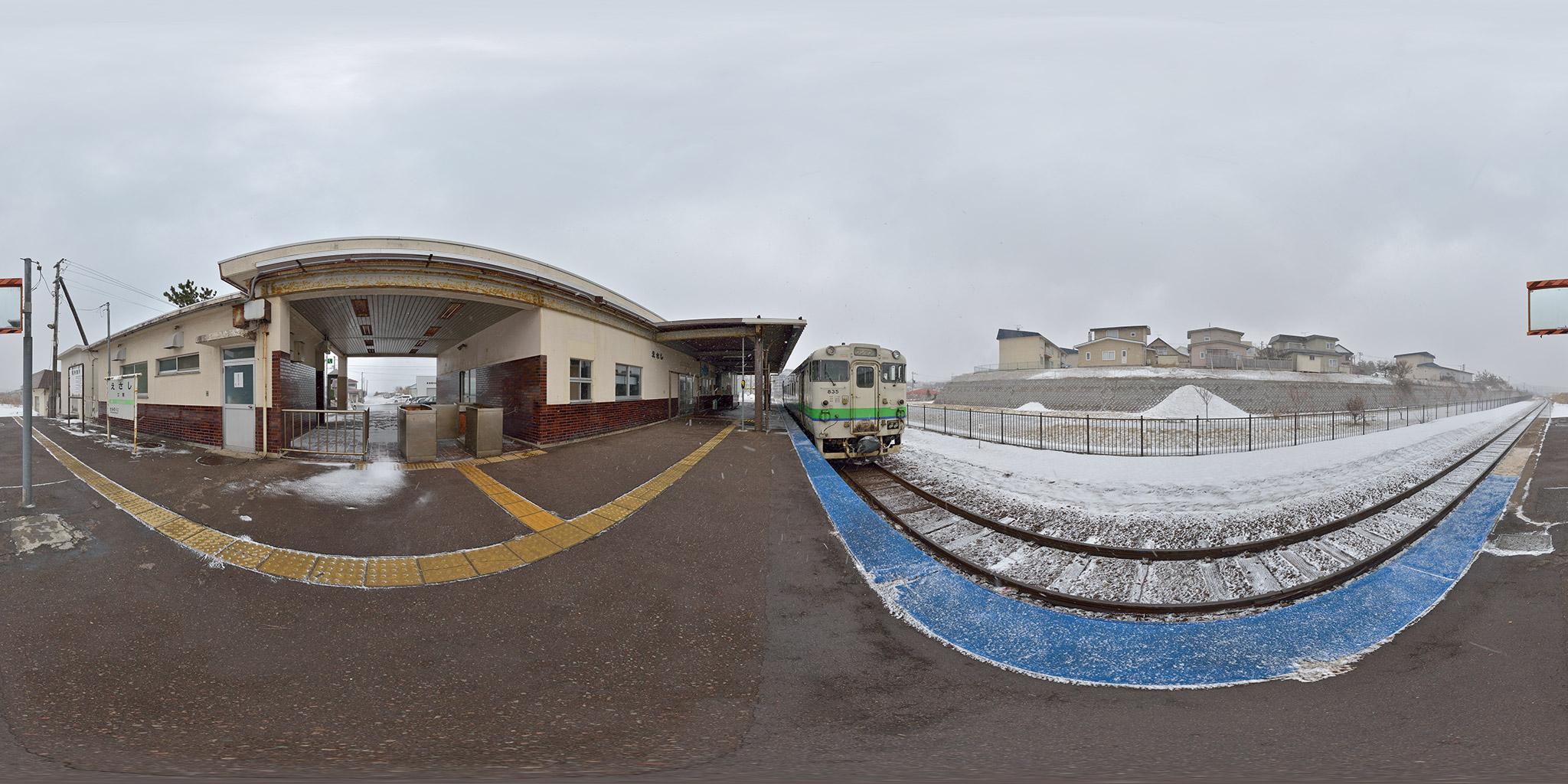 江差駅を出発する木古内行き(4175D)
