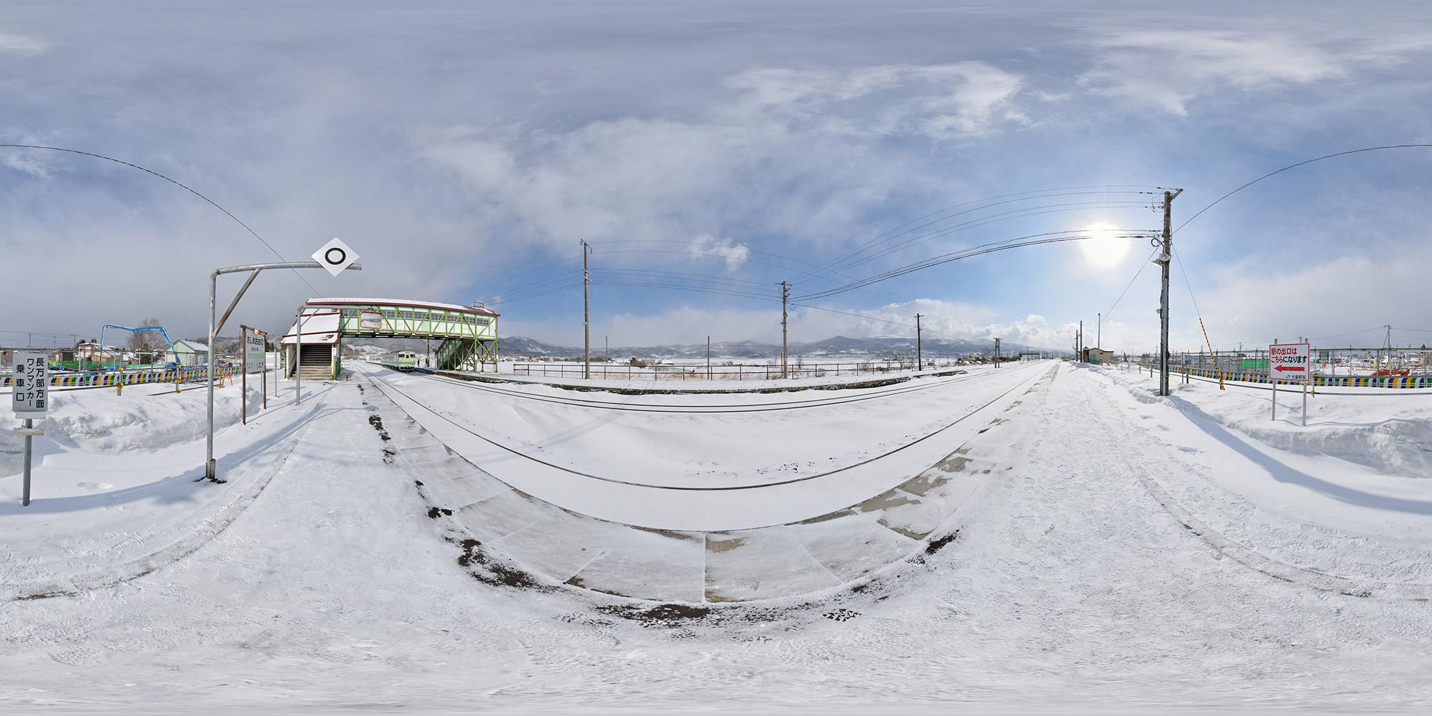 2013年3月に撮影した渡島大野駅