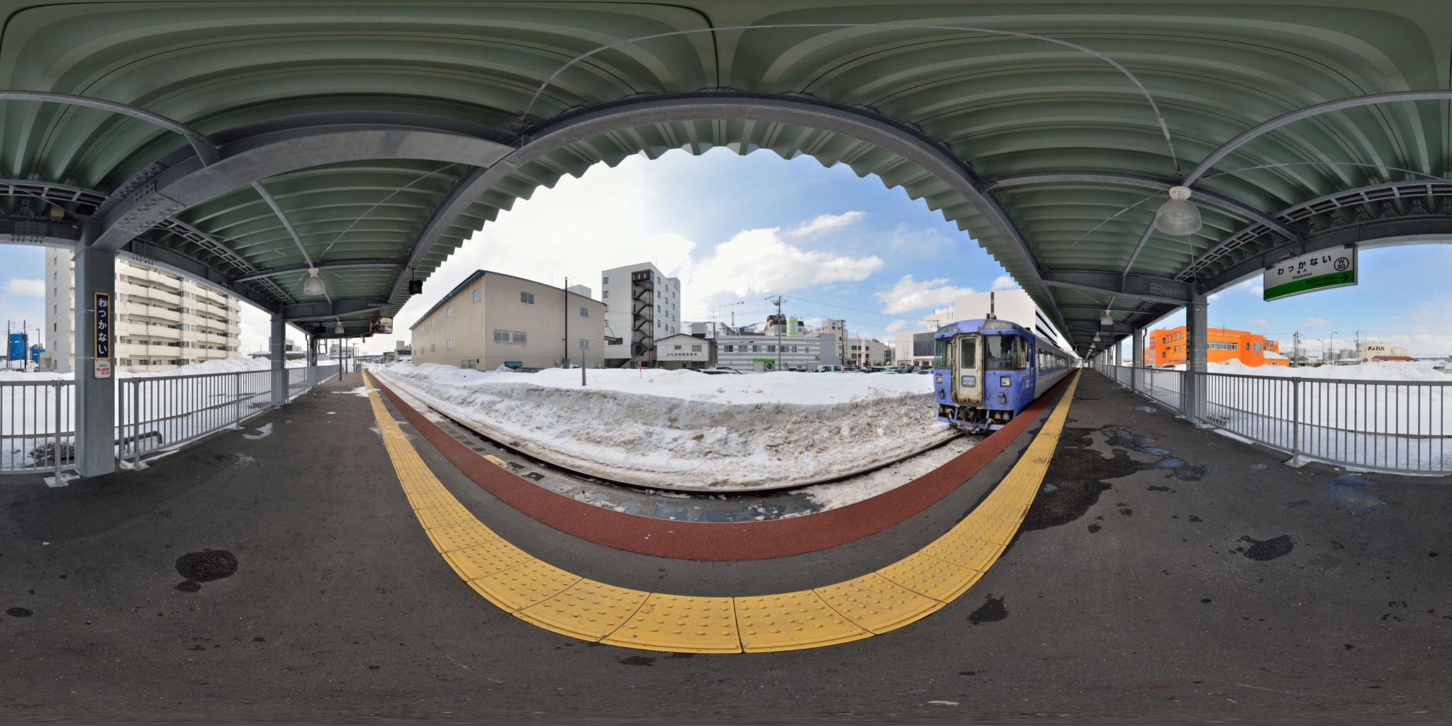 稚内駅に停車中の特急サロベツ