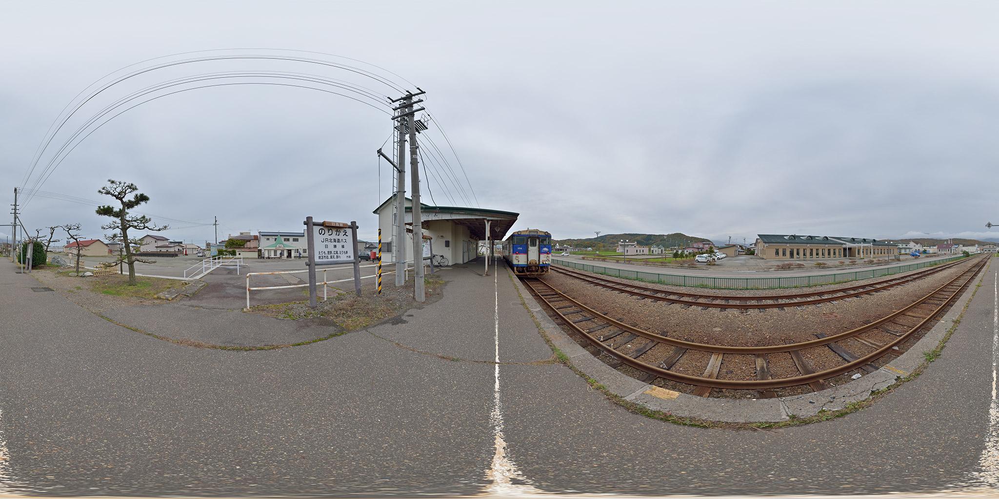 日高本線の終点、様似駅の風景