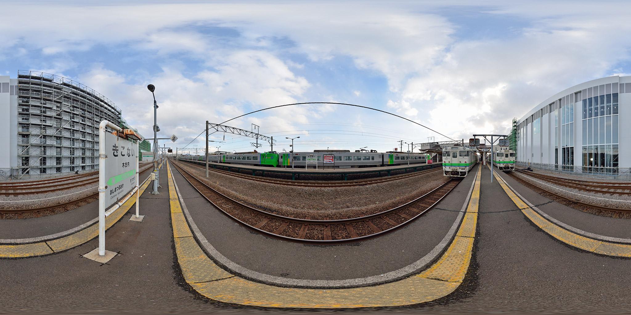 2013年11月に撮影した木古内駅