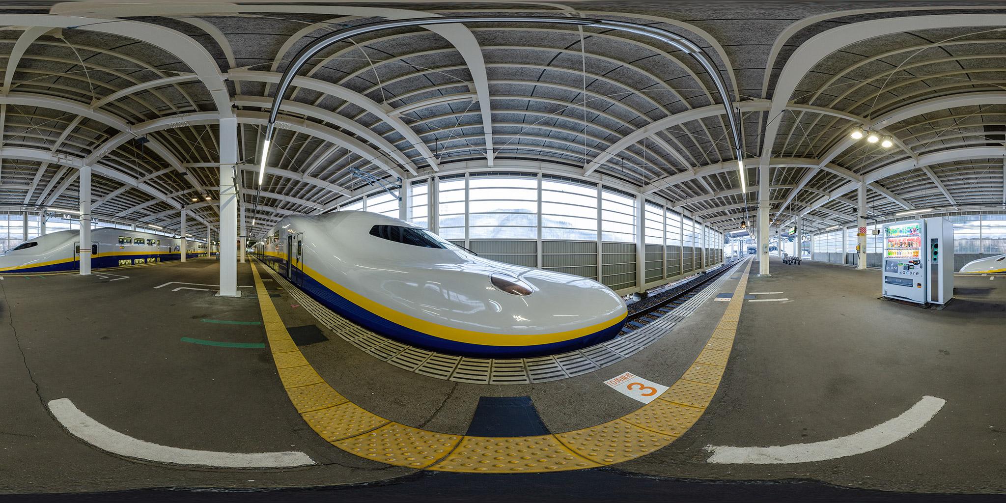 ガーラ湯沢駅で並ぶE4系Maxたにがわ号