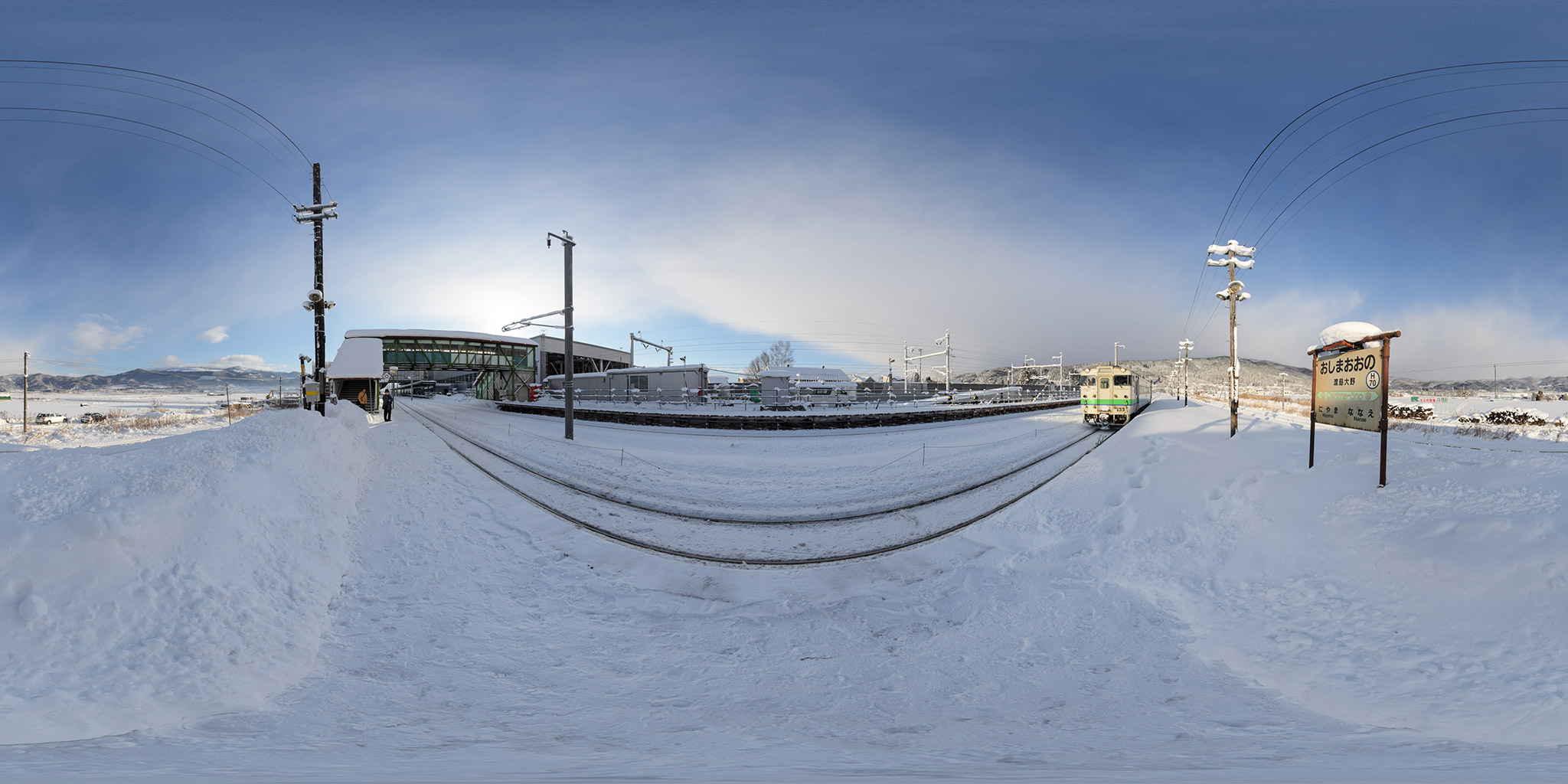 2014年12月に撮影した渡島大野駅