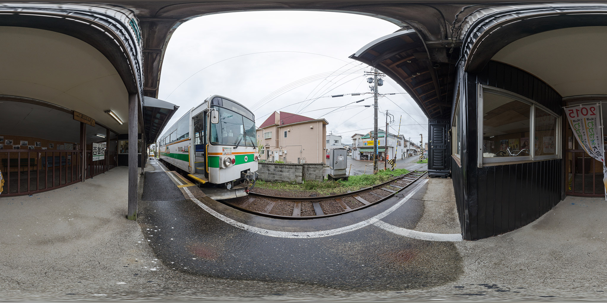紀州鉄道の終点、西御坊駅