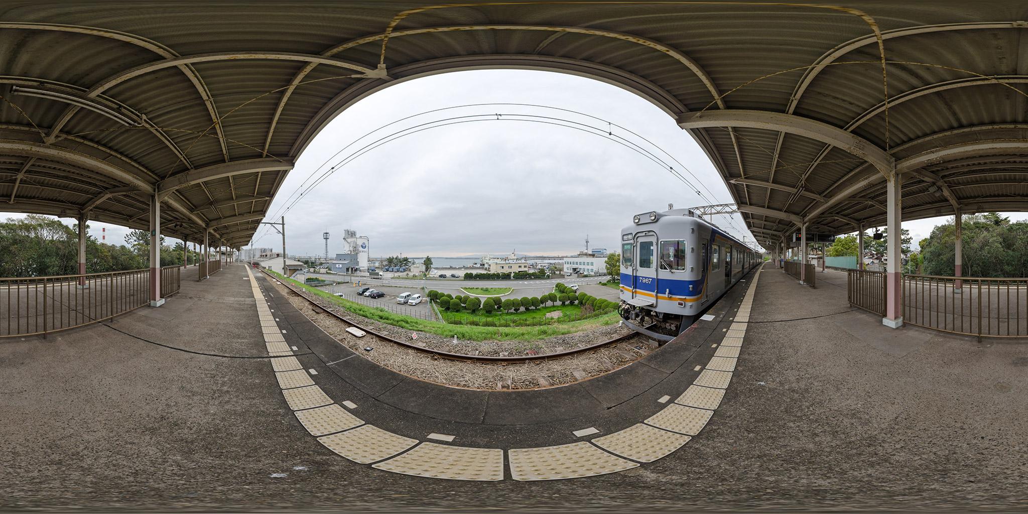南海電鉄和歌山港駅と南海フェリー「フェリーつるぎ」