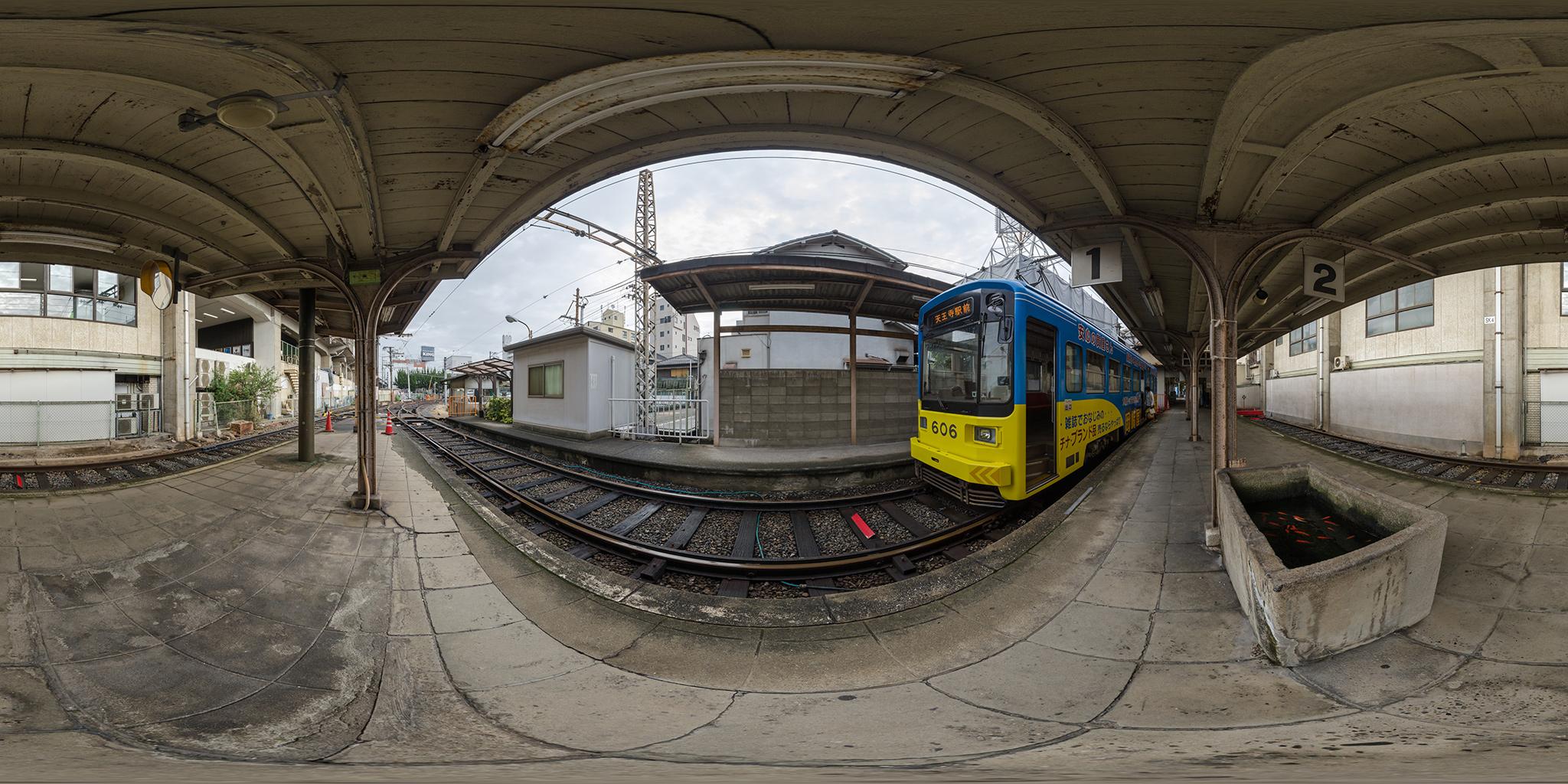 2016.1.31に廃止された阪堺電車住吉公園駅