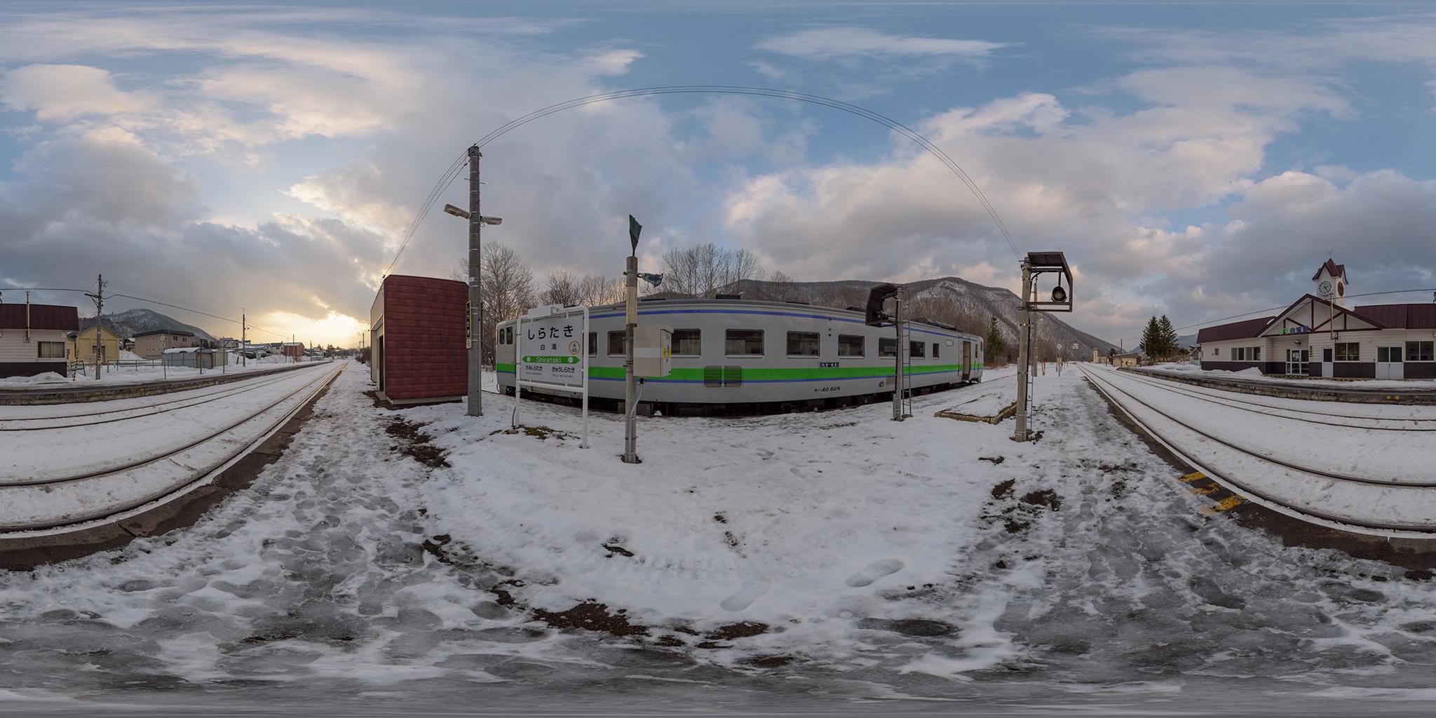 白滝駅で折り返すキハ40-826