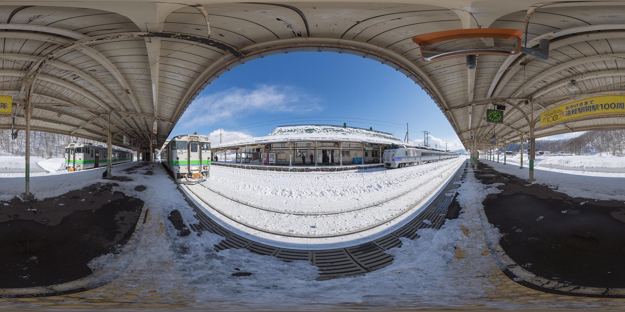遠軽駅に到着したオホーツク3号