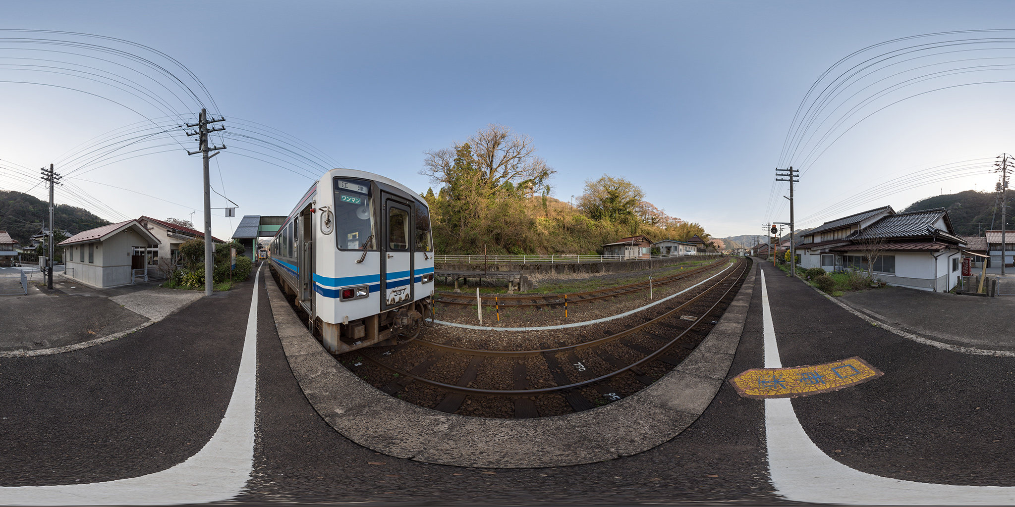 三江線浜原駅で折り返すキハ120-357