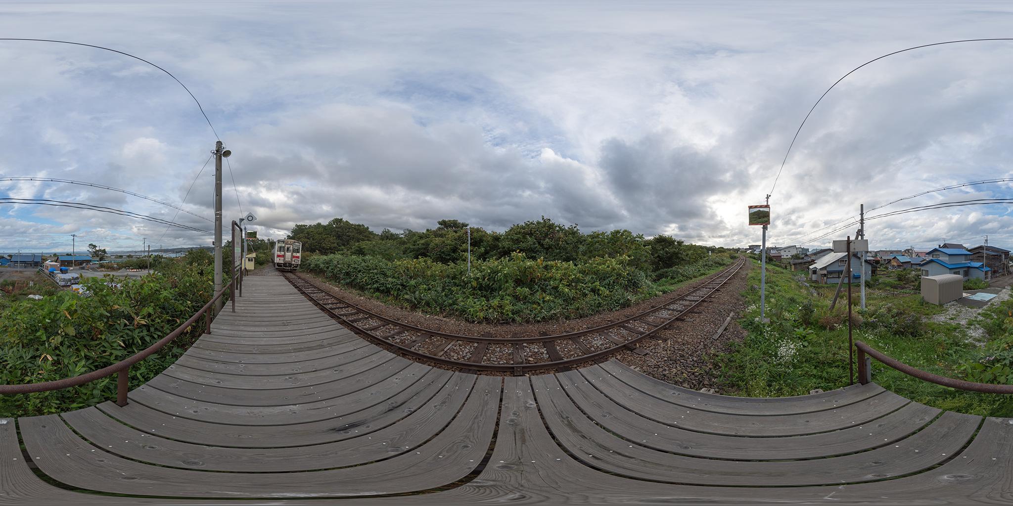箸別駅を発車するキハ54-505(4932D)